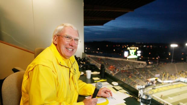 Legendary Oregon public address announcer Don Essig is still going strong after 47 years behind the mic