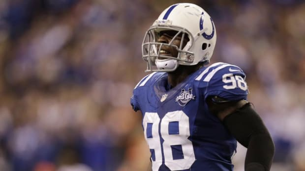 Colts Owner: Robert Mathis out until early October or late September--IMAGE