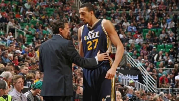 Utah Jazz Rudy Gobert joins media for fajita night