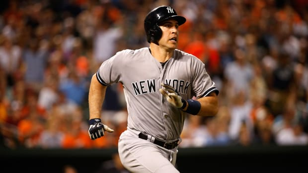 New York Yankees' first baseman Mark Teixeira to miss rest of the season with leg fracture--IMAGE