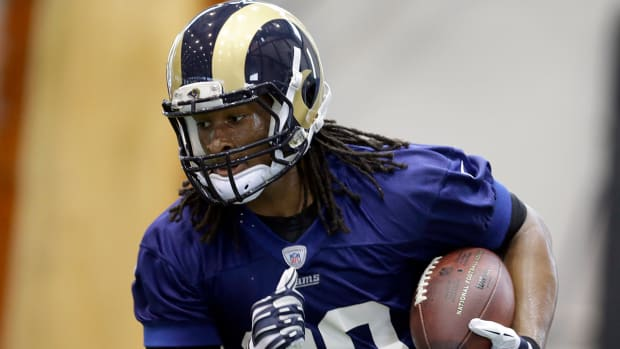 Todd Gurley is just happy to be back in pads and on the field IMAGE