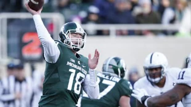 No. 5 MSU routs Penn State 55-16, lands spot in Big Ten title game -- IMAGE