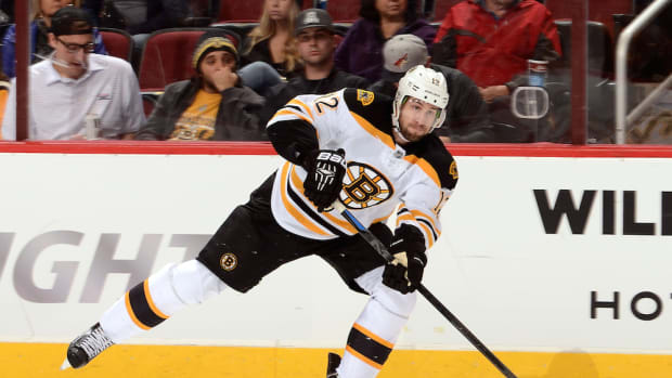 boston bruins simon gagne done for season