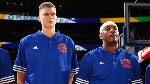 Carmelo Anthony says Kristaps Porzingis is future Knicks leader - IMAGE