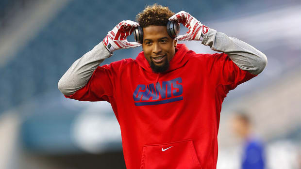 Giants WR Odell Beckham Jr Hamstring Better IMAGE