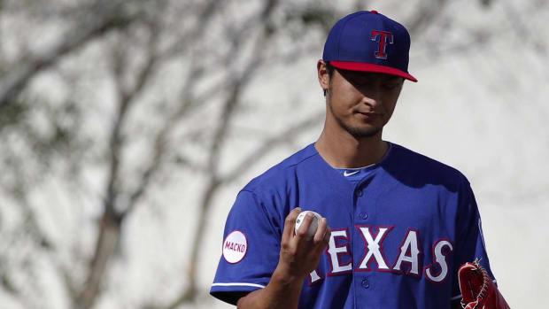Rangers pitcher Yu Darvish to have MRI on injured triceps