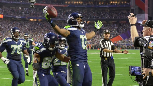 Seahawks' Chris Matthews makes first NFL catch in Super Bowl XLIX IMAGE