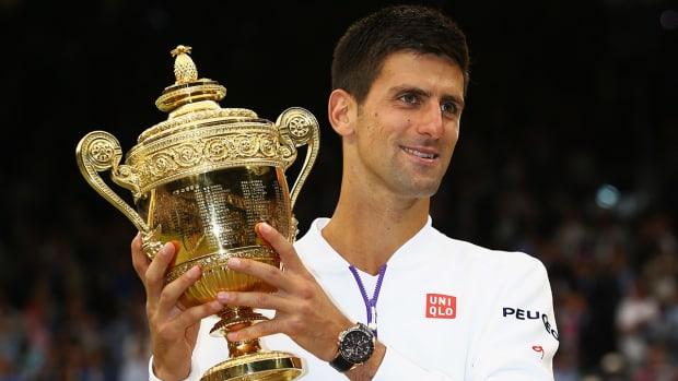 2015 Wimbledon men's champion Novak Djokovic IMAGE