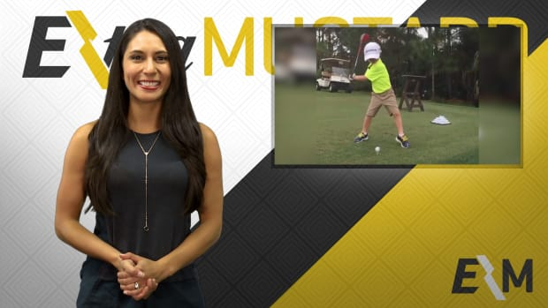 Mustard Minute: One-armed kid nails Happy Gilmore swing IMG