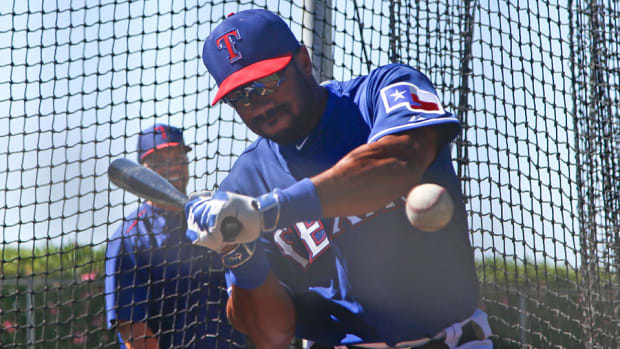 russell wilson rangers spring training home run