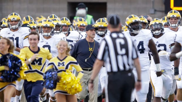 Jim Harbaugh loses Michigan debut vs Utah--IMAGE