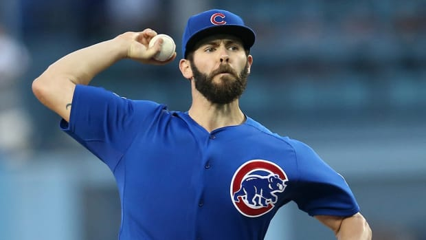 Cubs pitcher Jake Arrieta no-hits Dodgers--IMAGE