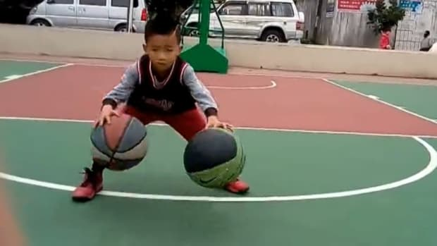 5-year-old shows off amazing dribbling skills