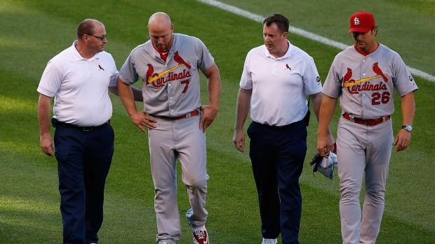 Cardinals place Matt Holliday (quad) on 15-day DL IMAGE