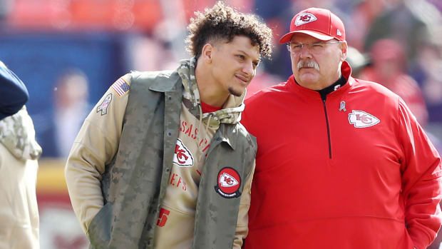 Patrick Mahomes and Andy Reid