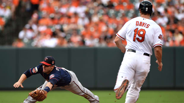Baltimore Orioles' Chris Davis will not be ALCS roster