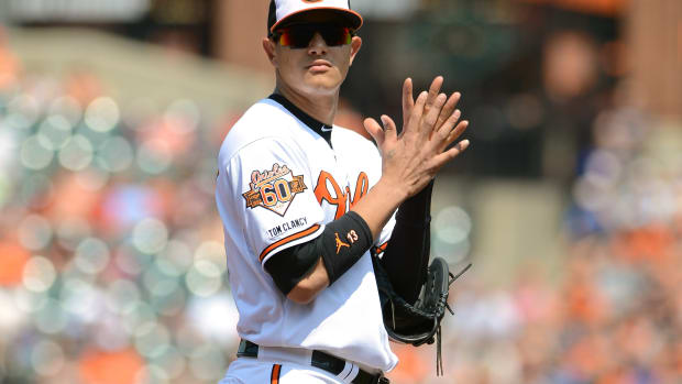Manny Machado Baltimore Orioles right knee sprain