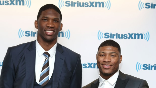 Joel Embiid and Marcus Smart