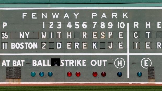 Derek Jeter Fenway scoreboard
