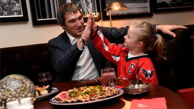 Alexander Ovechkin surprised a young Capitals fan with a sushi date