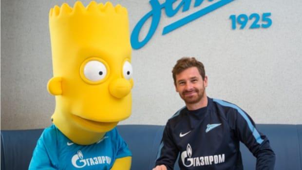 Bart Simpson is a Russian soccer mascot