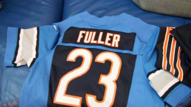 Kyle and Corey Fullers parents will wears Bears Lions jerseys for Thanksgiving