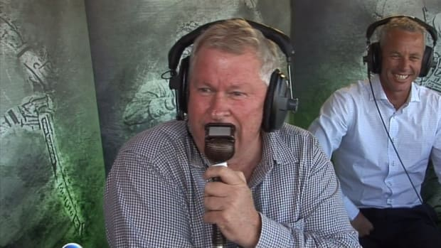 Cricket commentator's car dented by six