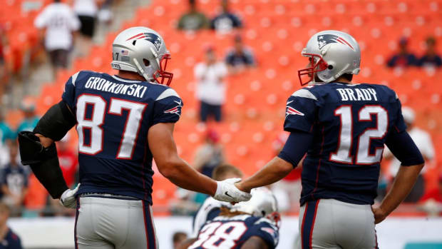 "Tom Brady asks Rob Gronkowski ""How the F--- did you catch that?"""