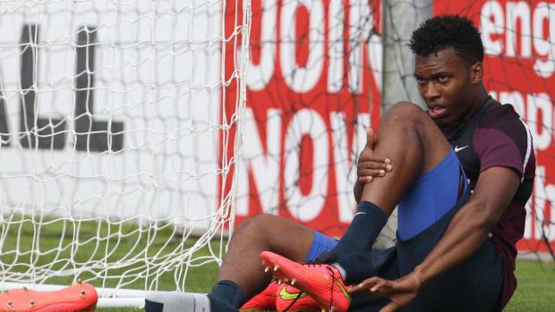 England striker Daniel Sturridge injured