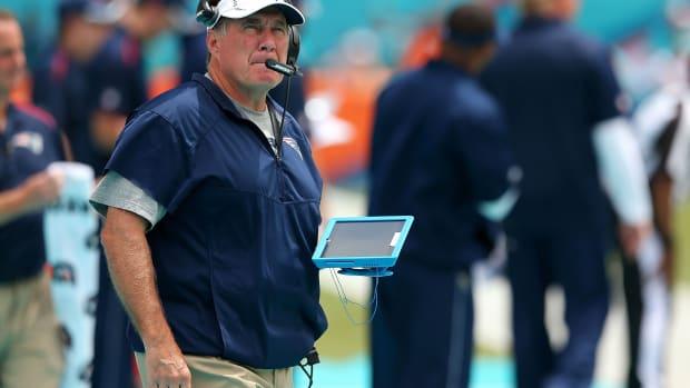 New England Patriots head coach Bill Belichick NFL tablets technology