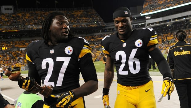 Steelers RBs LaGarrette Blount and LeVeon Bell