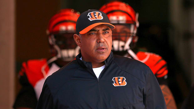 Marvin Lewis and the Bengals almost caught a very bad break in Tampa. (Mike Ehrmann/Getty Images)