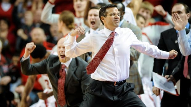 Nebraska's Tim Miles applied to lead the schools student section