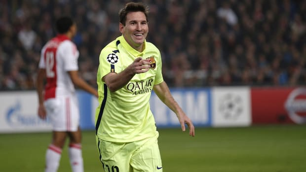 Messi ties Champions League goals record IMAGE