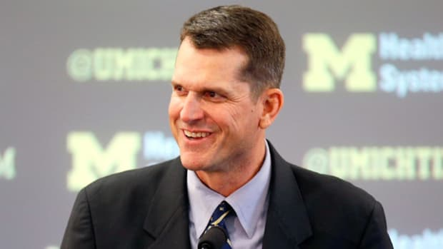 michigan harbaugh shot