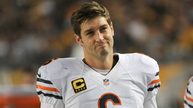 Jay Cutler's post game press conference was very poorly attended