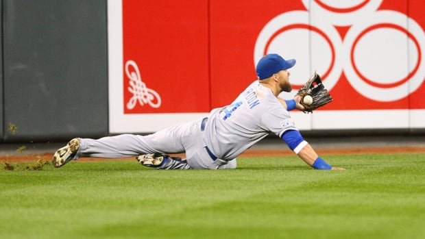Alex Gordon diving catch Royals Orioles Game 1 ALCS