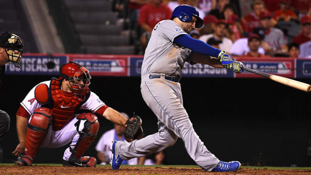 Mike Moustakas Royals ALDS home run Angels