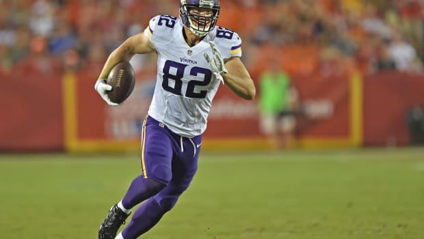 Kyle Rudolph Minnesota Vikings tight end groin injury MRI