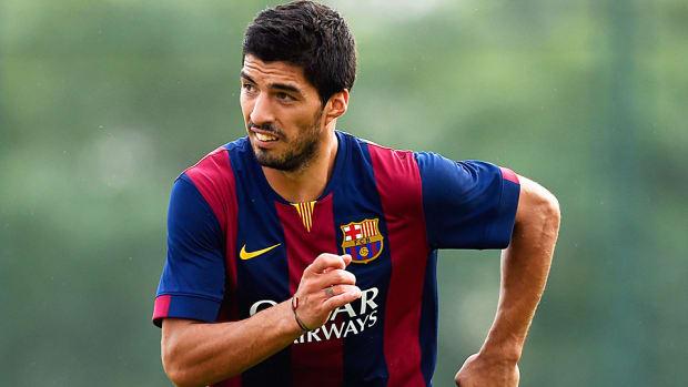 Luis Suarez Barcelona training