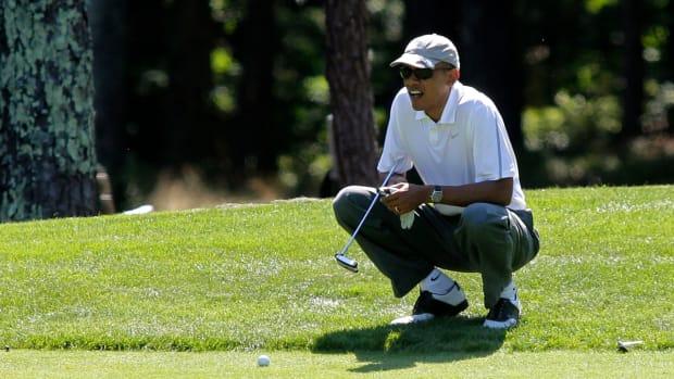 President Obama fires back at Michael Jordan over golf comments IMAGE