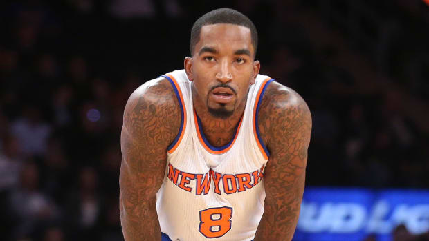 J.R. Smith suspended one game for hitting Glen Rice Jr. in the groin IMAGE