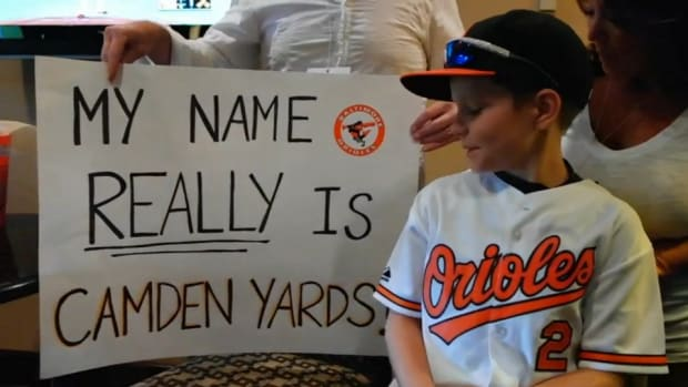 Baltimore Orioles fans named their son Camden yards