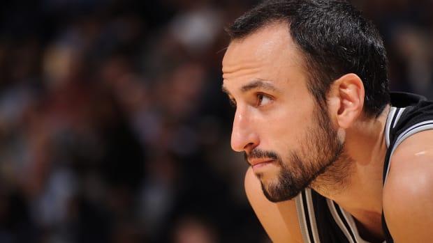 Spurs' Manu Ginobili say he's 'way behind, basketball-wise' IMAGE