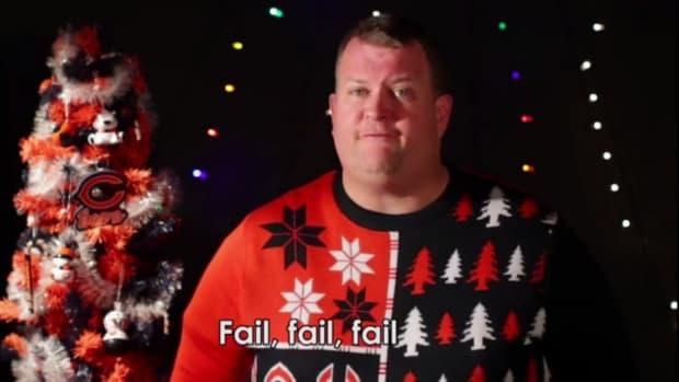 Angry Bears fan Christmas Carols