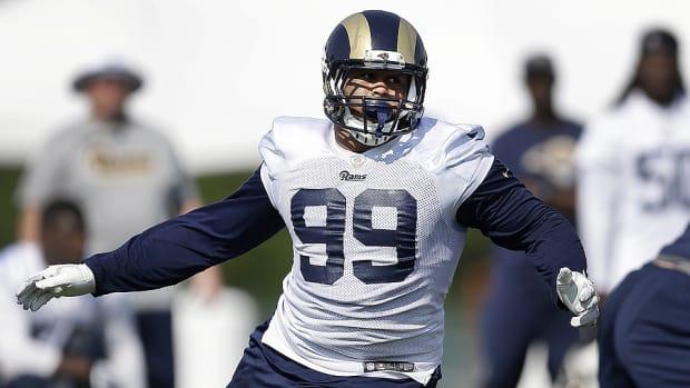Rams rookie defensive tackle Aaron Donald