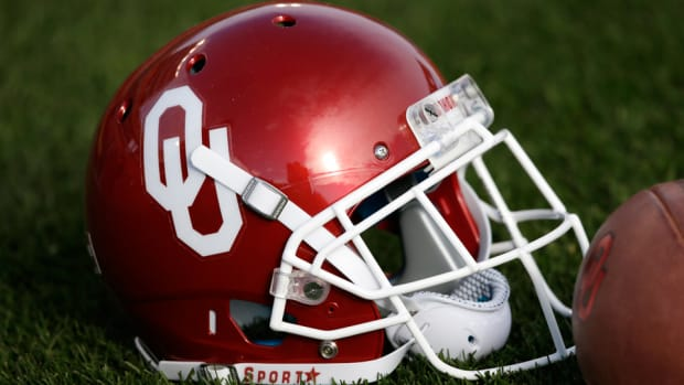 Oklahoma football helmet