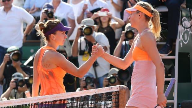 Maria Sharapova Simona Halep french open