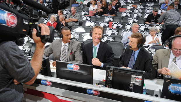 Turner Sports will replace analyst Steve Kerr with 3-man rotation