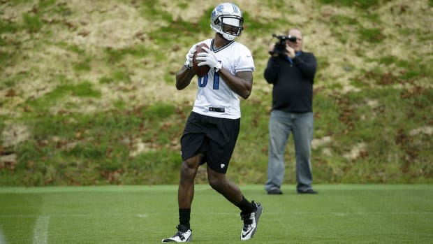 Will Calvin Johnson be ready to play in London?